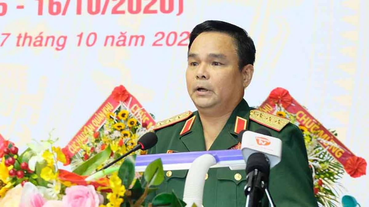 Thượng tướng Lê Chiêm phát biểu tại lễ kỷ niệm.