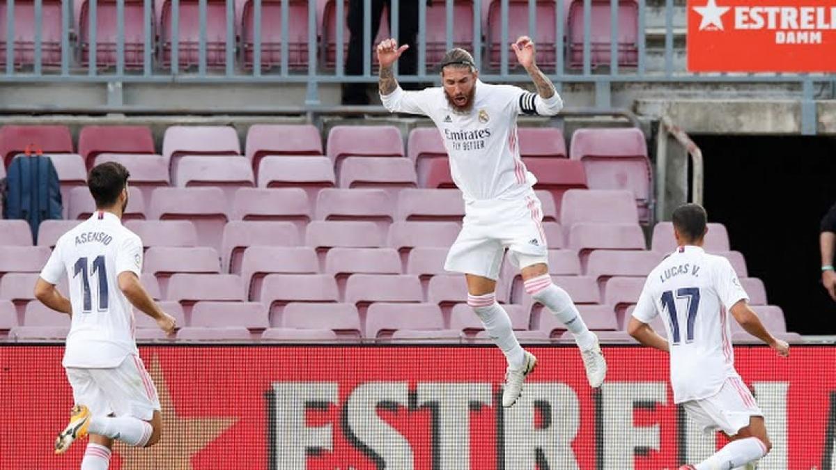 Ramos tỏa sáng giúp Real Madrid đánh bại Barca (Ảnh: Reuters).