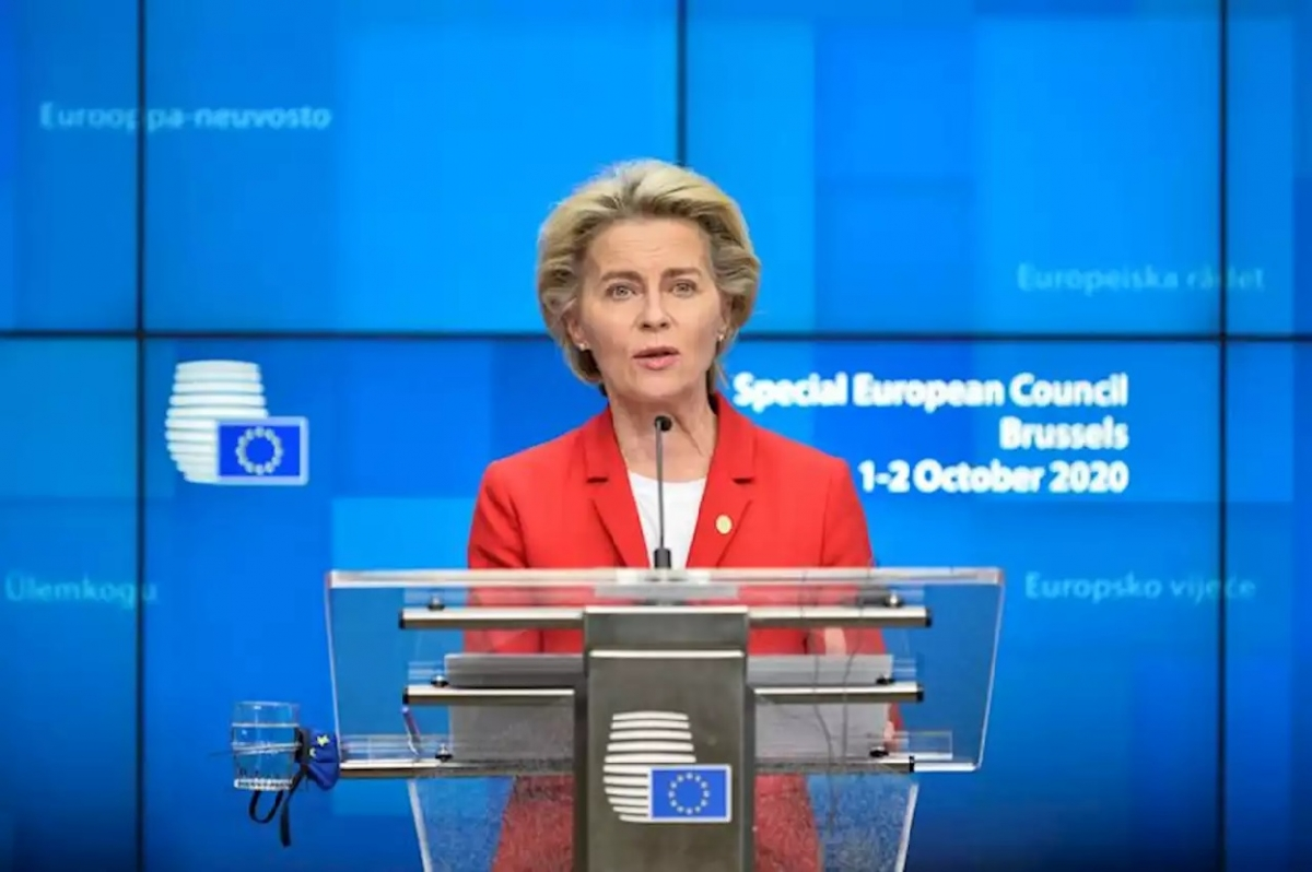 Chủ tịch Ủy ban châu Âu Ursula von der Leyen. Ảnh: Headtopics