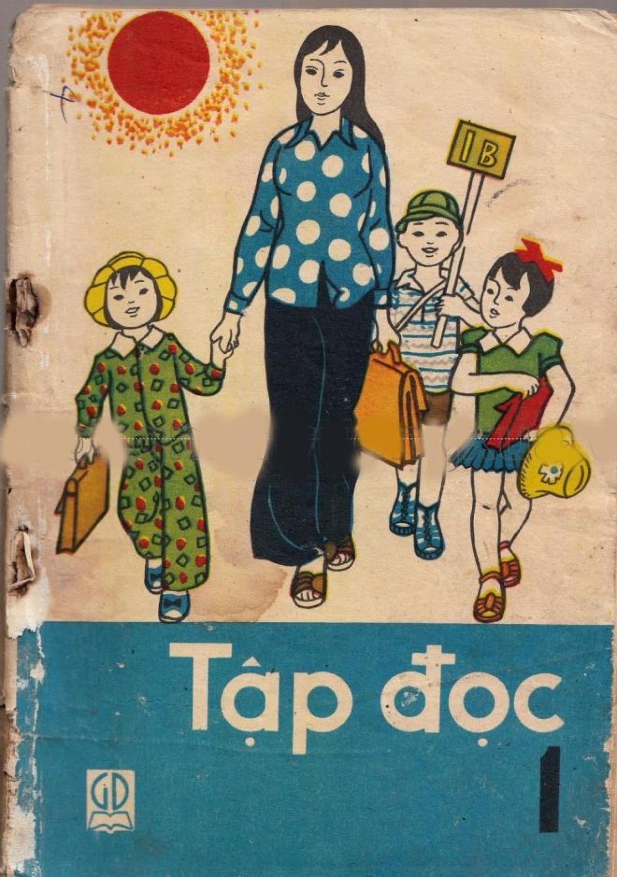 Sách Tập đọc lớp 1, xuất bản năm 1985.