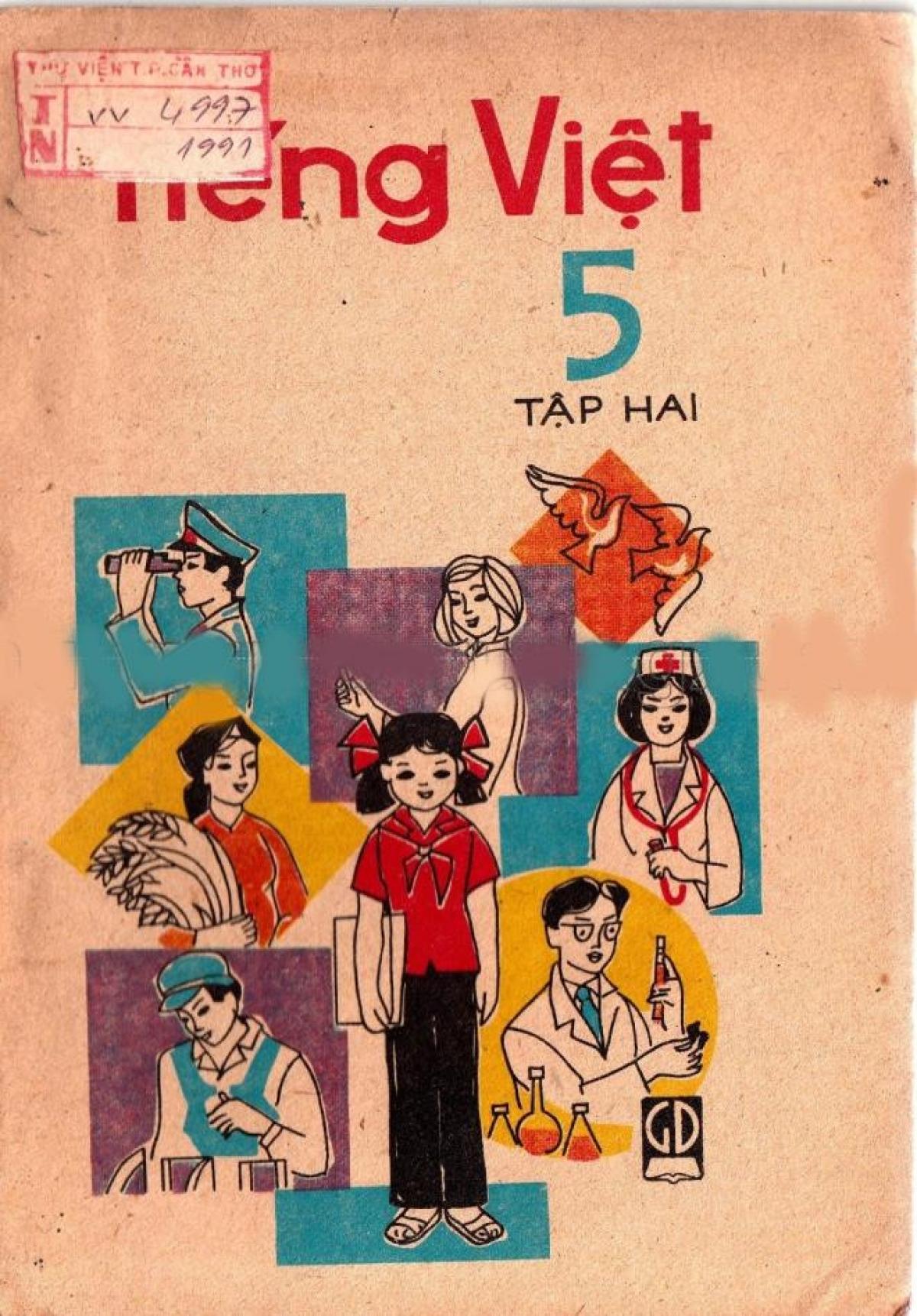 Sách Tiếng Việt lớp 5 tập 2, xuất bản năm 1985.