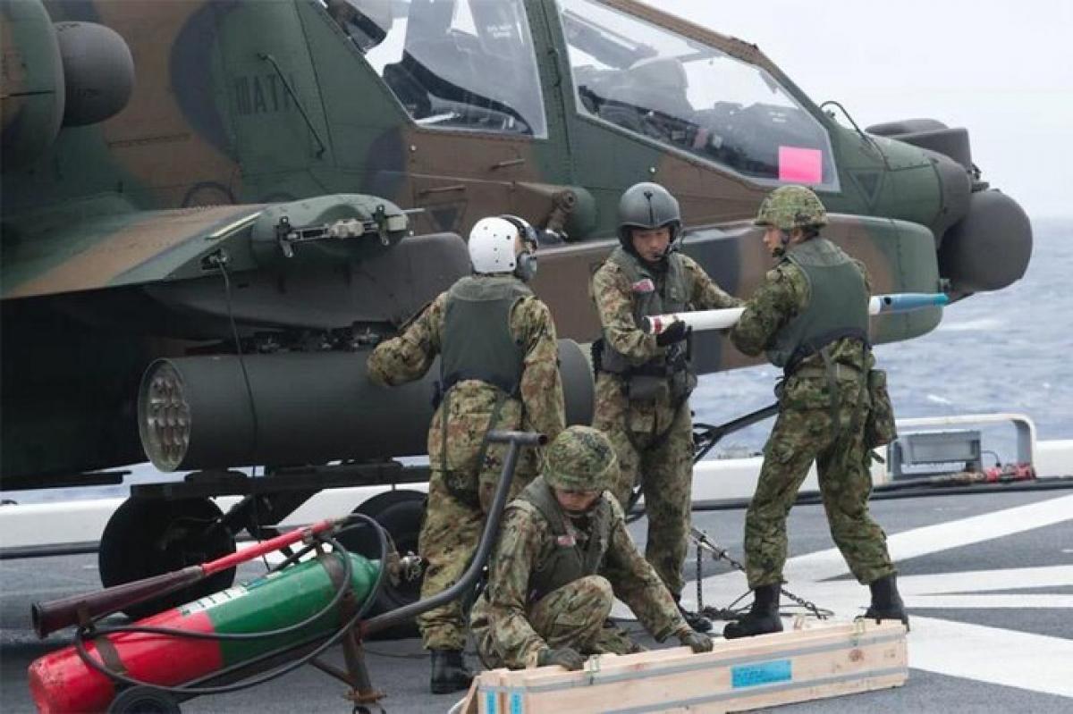 Các binh sỹ tham gia cuộc tập trận Keen Sword 21. Ảnh: Hải quân Mỹ.