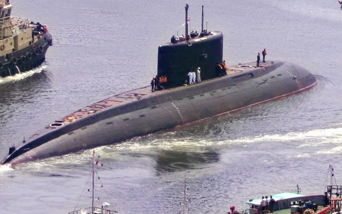 Tàu ngầm Ấn Độ. Ảnh: Al Bilad.