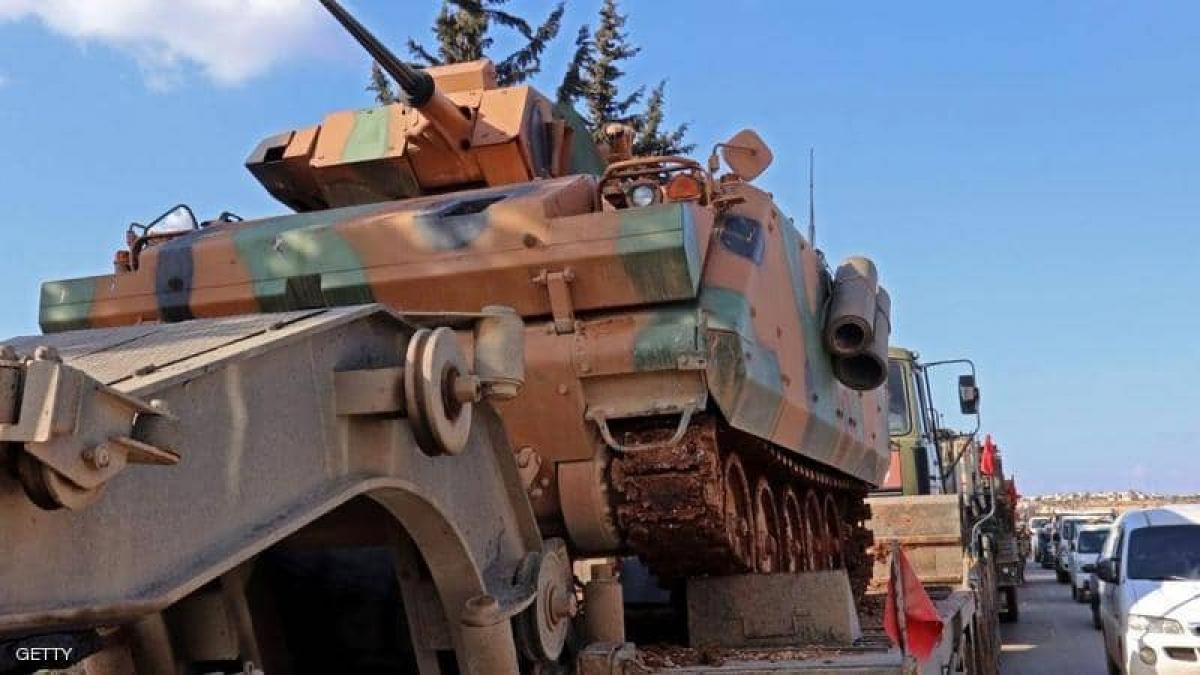 Quân đội Thổ Nhĩ Kỳ ở miền bắc Syria - Ảnh GETTY
