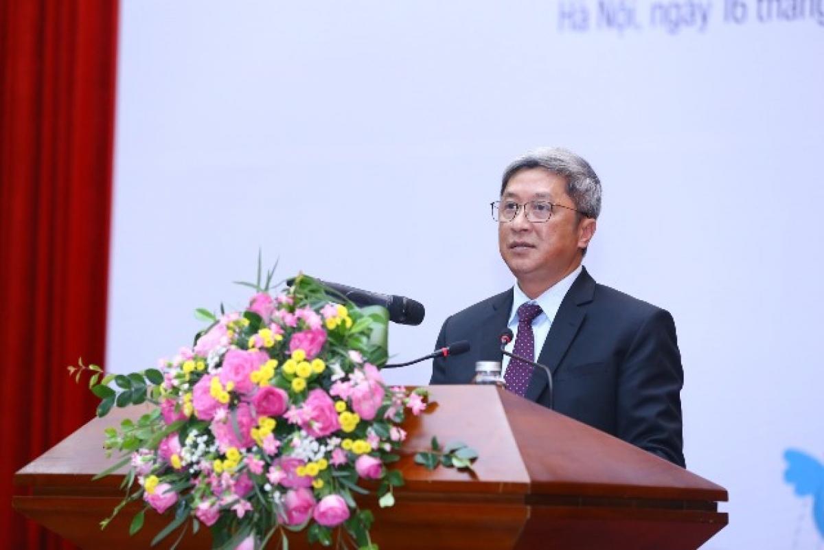 Thứ trưởng Bộ Y tế Nguyễn Trường Sơn phát biểu tại Lễ phát động. (Ảnh: SKĐS)