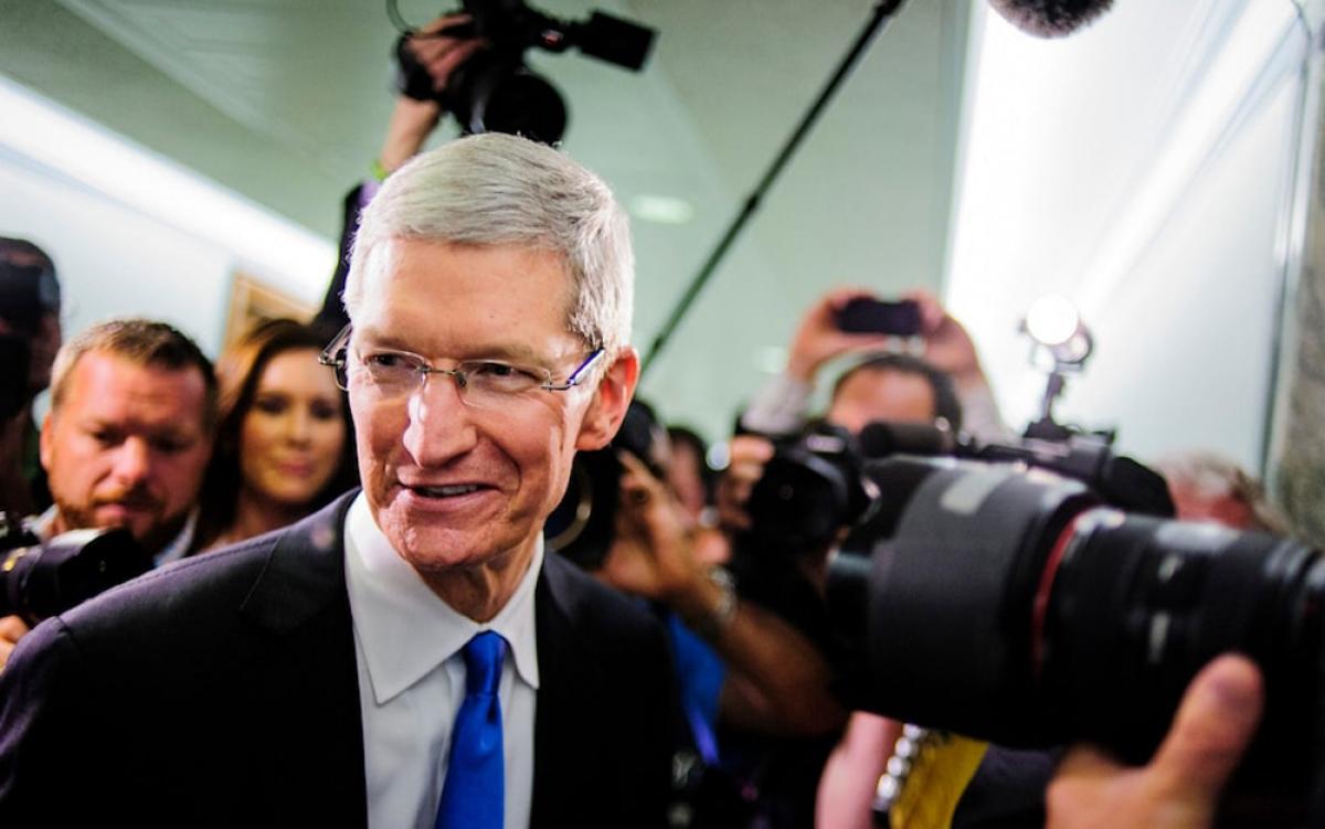 Dưới dự dẫn dắt của CEO Tim Cook, giá trị cổ phiếu của Apple tăng mạnh trong những năm gần đây. (Ảnh: Telegraph)