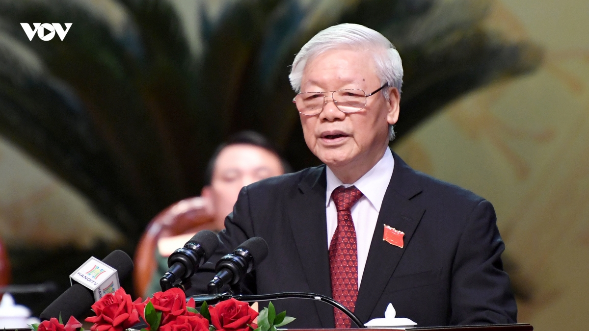 Tổng Bí thư, Chủ tịch nước Nguyễn Phú Trọng phát biểu chỉ đạo Đại hội.