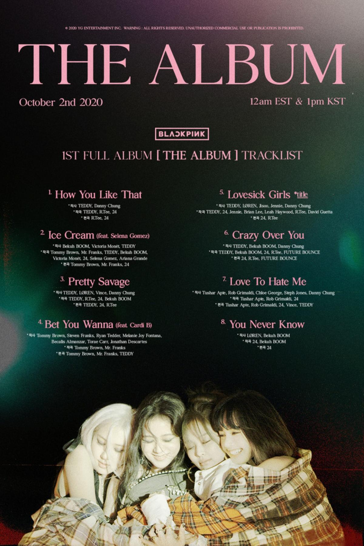 Danh sách các ca khúc nằm trong full album đầu tiên.