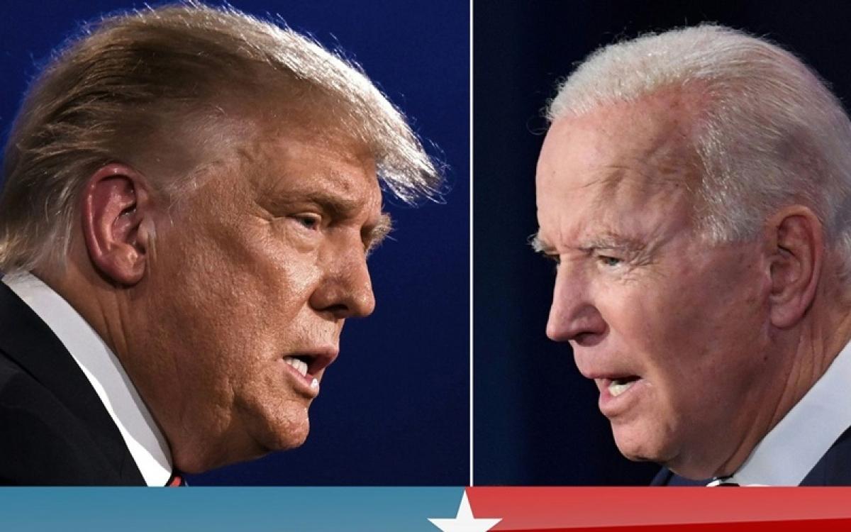 Ông Trump (trái) và ông Biden (Ảnh: Sky News).