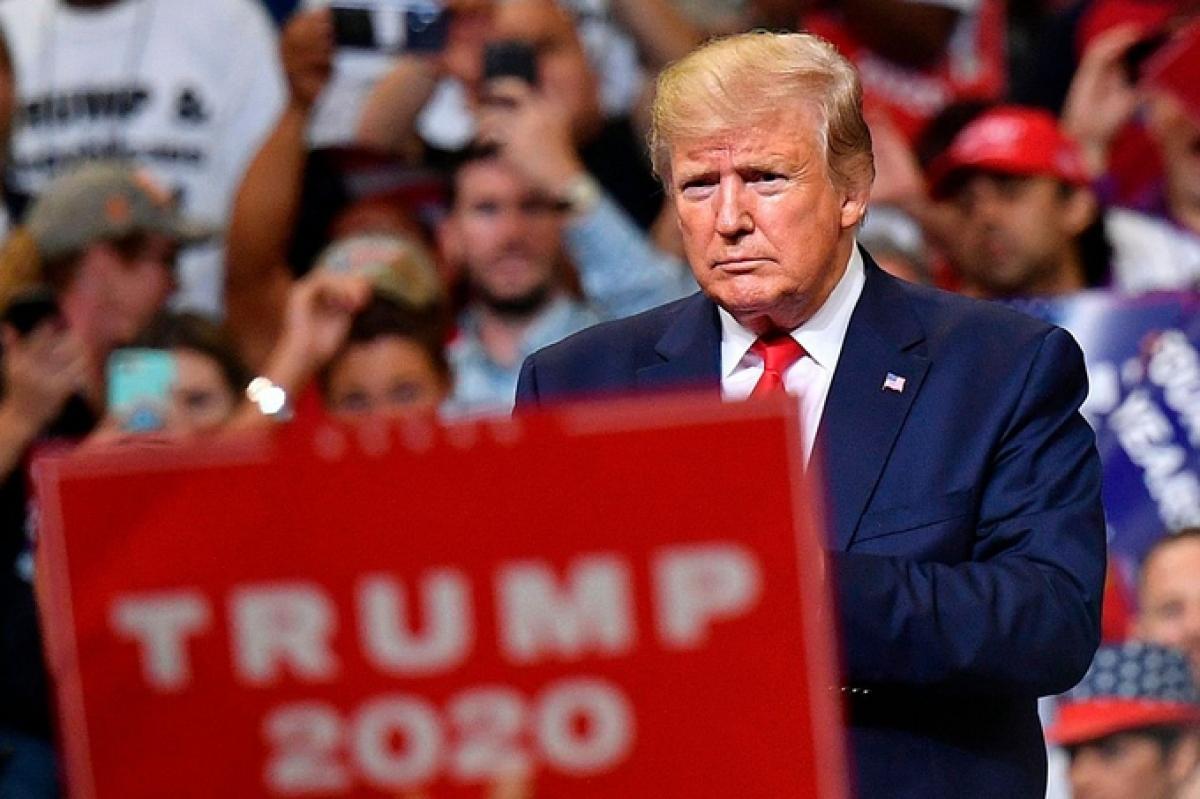 Ông Trump trong một cuộc vận động tái tranh cử Tổng thống Mỹ tạiFlorida. Ảnh:AFP
