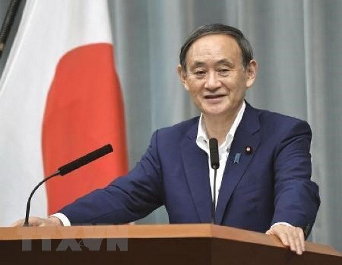 Thủ tướng Nhật Bản Yoshihide Suga. (Ảnh: Kyodo).