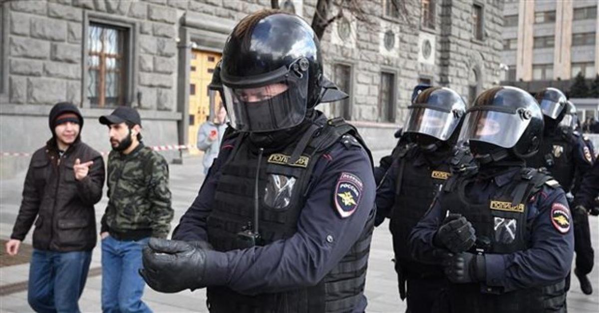 Lực lượng an ninh của Nga. Ành: AFP.