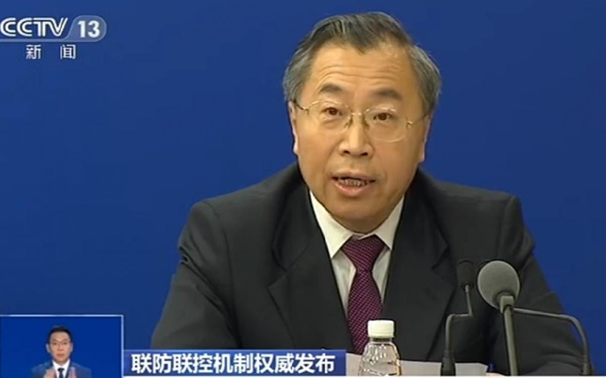 Ông Lưu Kính Trinh Chủ tịch Hội đồng quản trị Sinopharm. Ảnh: CCTV.