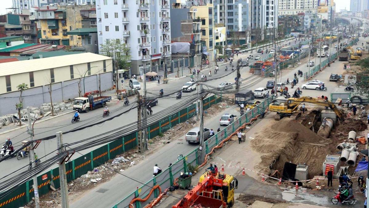 Công tác giải phóng mặt bằng dự án đường vành đai 2 (đoạn Vĩnh Tuy-Ngã Tư Vọng) cơ bản đã hoàn tất. (Ảnh: Báo Tin tức)
