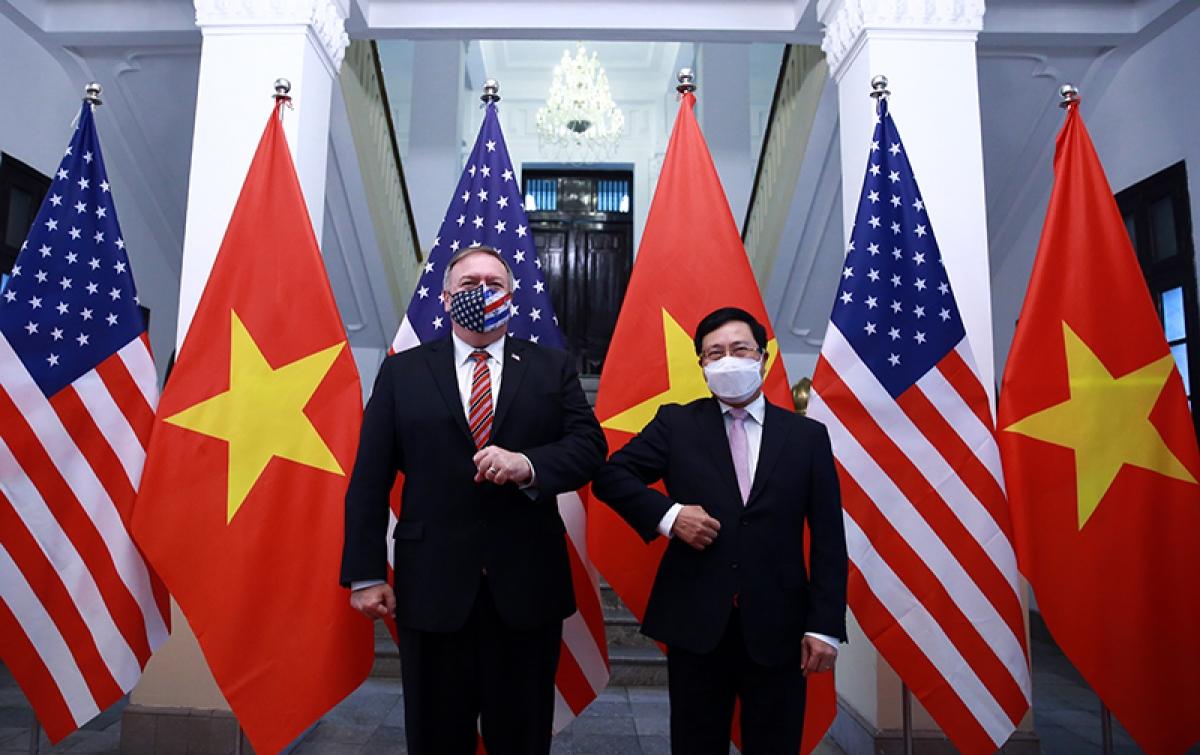 Phó Thủ tướng, Bộ trưởng Ngoại giao Phạm Bình Minh và Ngoại trưởng Hoa Kỳ Michael Pompeo.