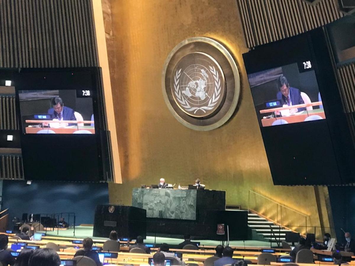 Đại sứ Đặng Đình Quý phát biểu tại phiên thảo luận của Uỷ ban Giải trừ quân bị của Đại hội đồng Liên Hợp Quốc.