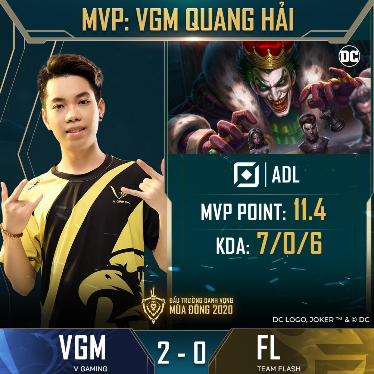 V-Gaming tiếp tục tạo nên bất ngờ khi dẫn trước Team Flash 2-0. (Ảnh: Cao thủ Liên quân).