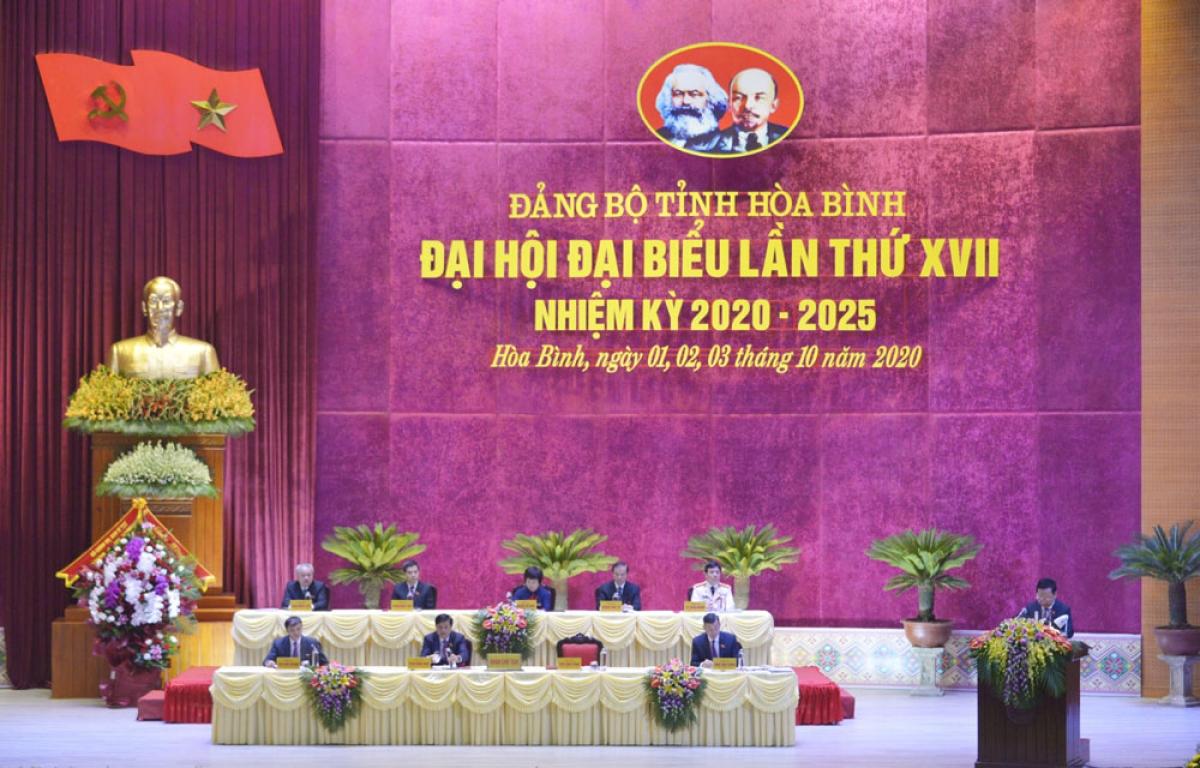 Đại hội Đảng bộ tỉnh Hòa Bình lần thứ XVII, nhiệm kỳ 2020 - 2025