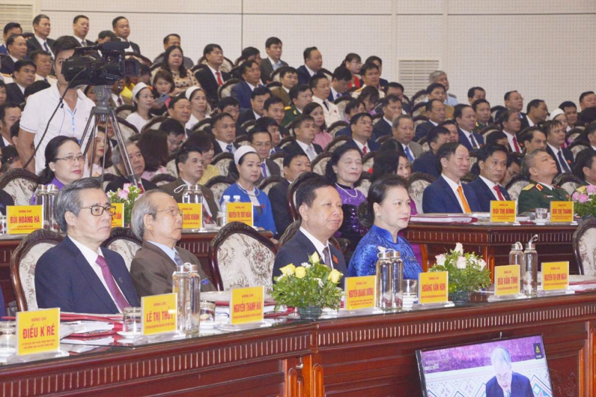 Các đại biểu dự khai mạc Đại hội Đảng bộ tỉnh Hòa Bình lần thứ XVII, nhiệm kỳ 2020 - 2025