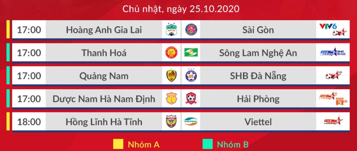 Lịch thi đấu các trận diễn ra trong chiều nay (Ảnh: VPF).