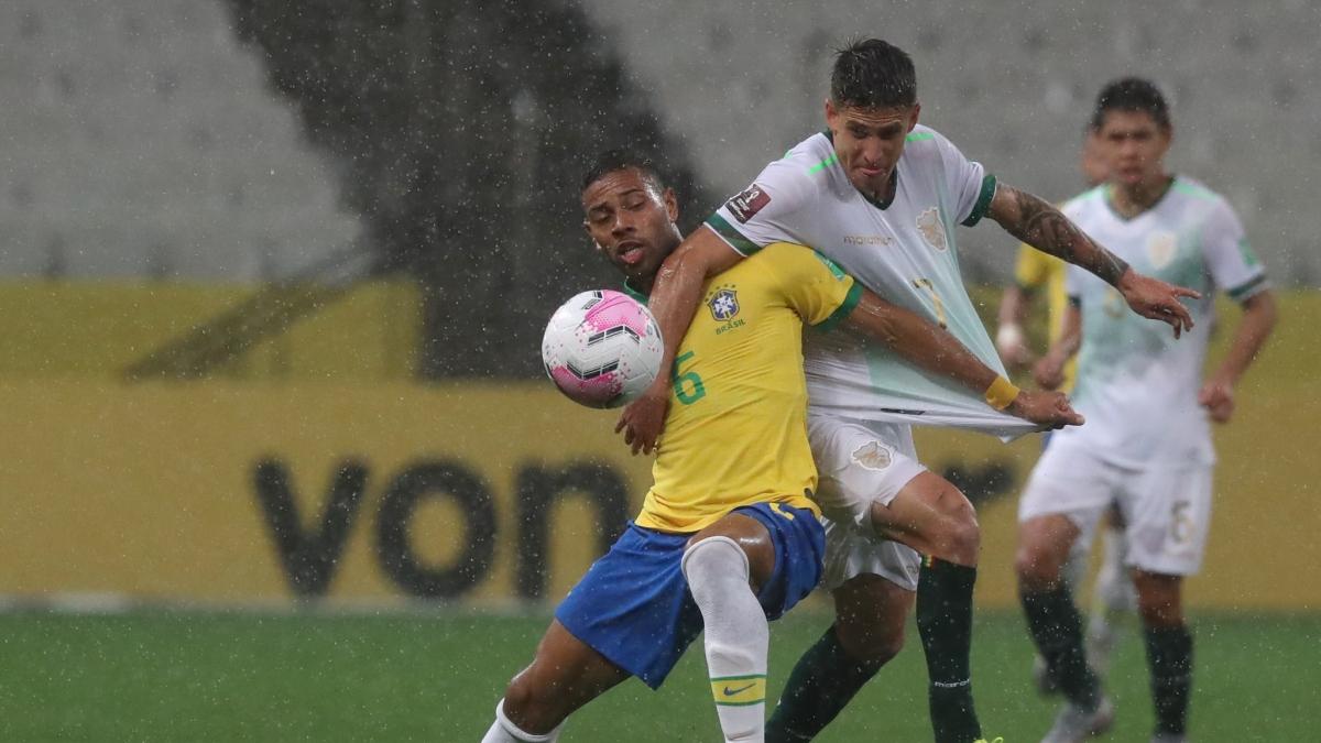 Bolivia phải trải qua 90 phút khổ sở trước Brazil. (Ảnh: Getty)