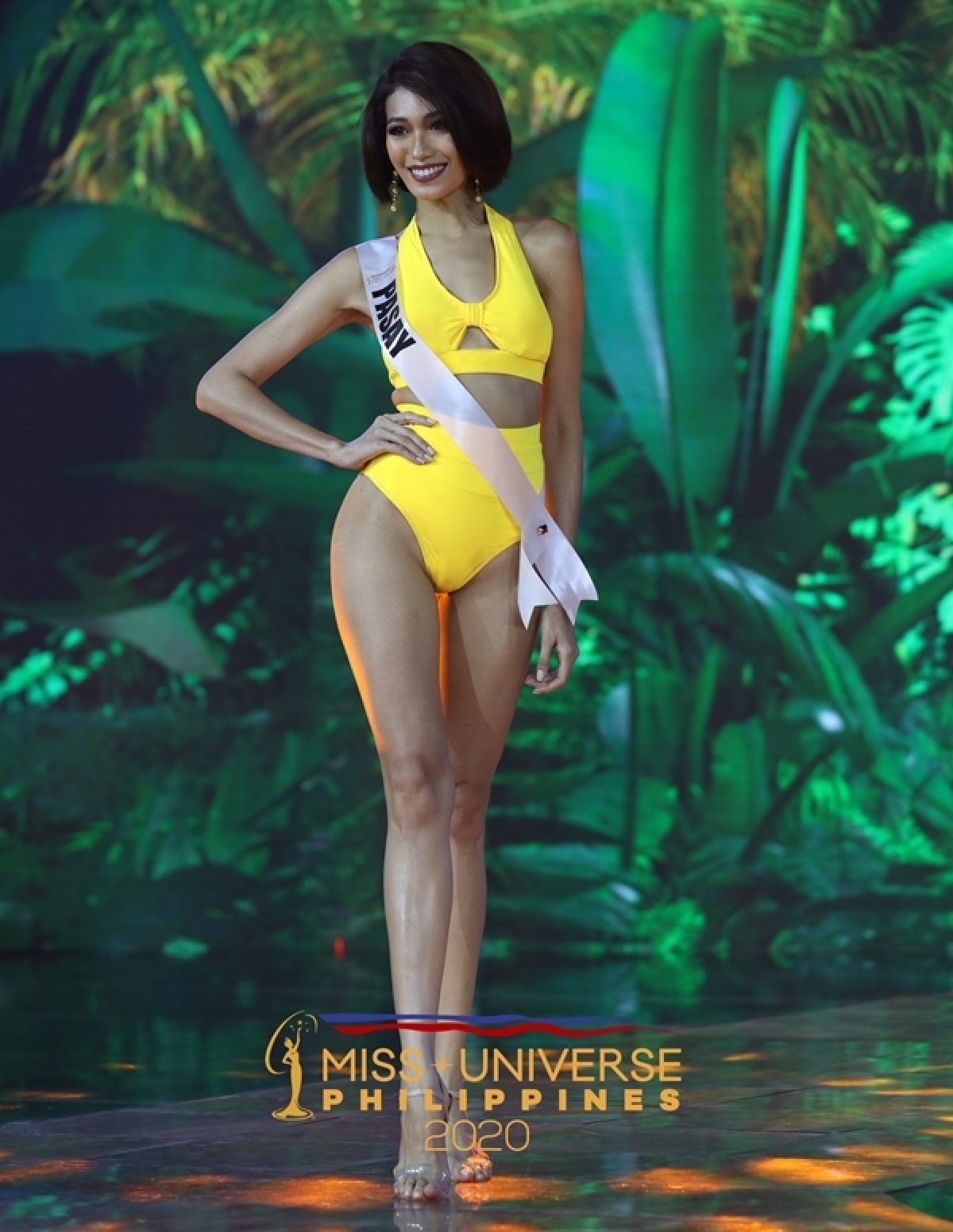 Các thí sinh Hoa hậu Hoàn vũ Philippines 2020 vừa có phần trình diễn bikini trong đêm diễn tại Baguio.