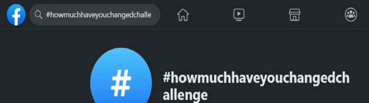 Trào lưu #howmuchhaveyouchangedchallenge trên Facebook hiện có hơn 3,7 triệu người đang tham gia - Ảnh: Facebook