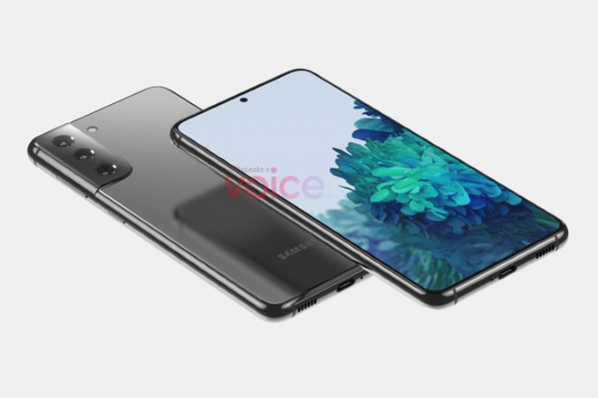 Hình ảnh kết xuất được cho là của dòng Galaxy S21 sắp ra mắt từ Samsung. (Ảnh chụp màn hình)
