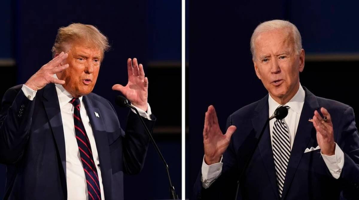 Tổng thống Trump và ứng viên đảng Dân chủ Joe Biden. Ảnh: Getty