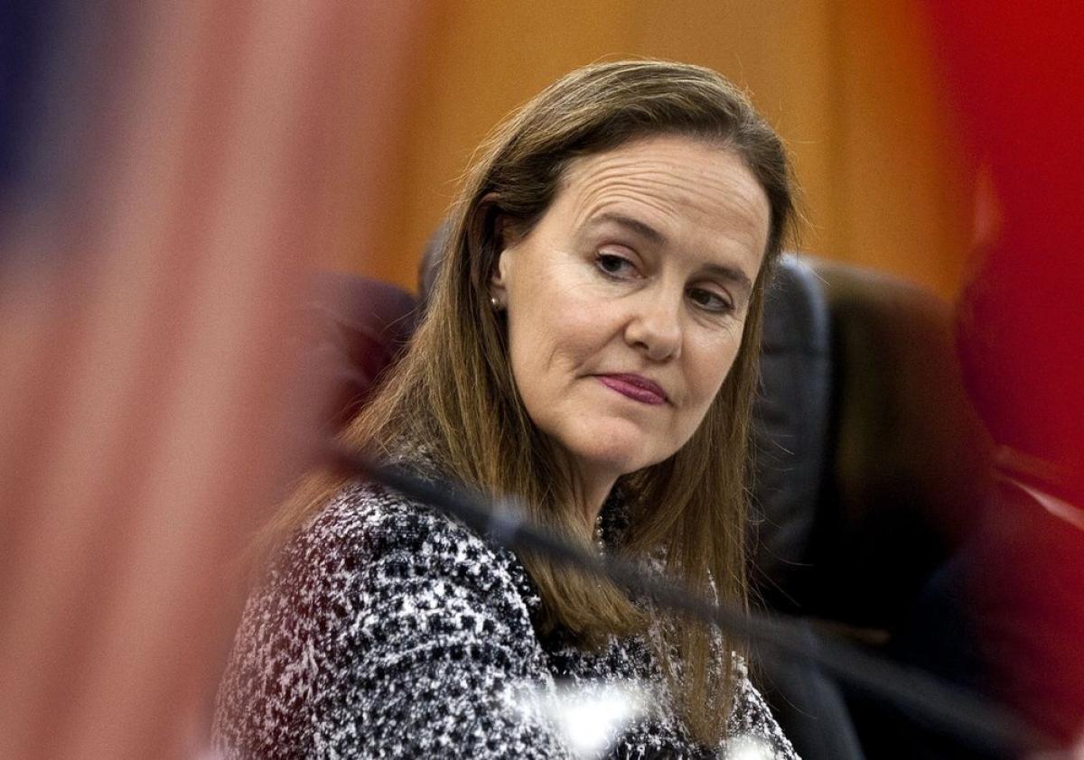 Bà Flournoy trong buổi họp chuẩn bị cho một cuộc gặp song phương vớiTrung Quốcvào năm 2011. Ảnh:AP.