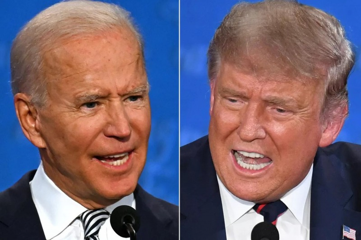 Hai ứng viên Tổng thống Mỹ 2020 Biden và Trump. Ảnh: AFP