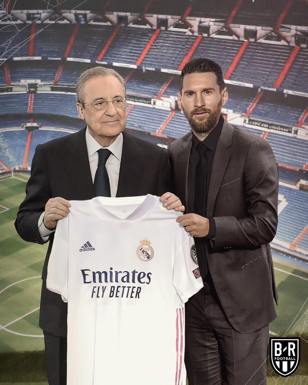 Lionel Messi phản bội Barca để khoác áo Real Madrid.