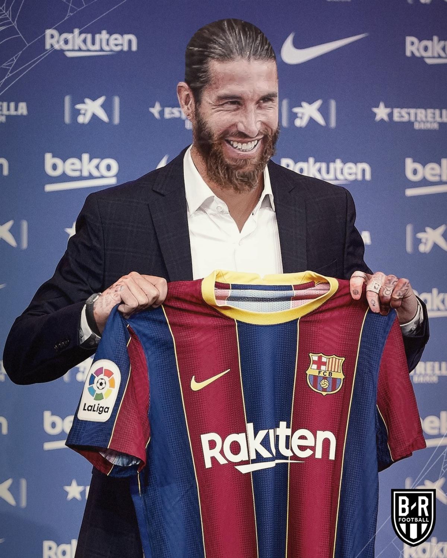 Sergio Ramos mang tinh thần chiến binh tới giúp Barca đối đầu với Real Madrid.