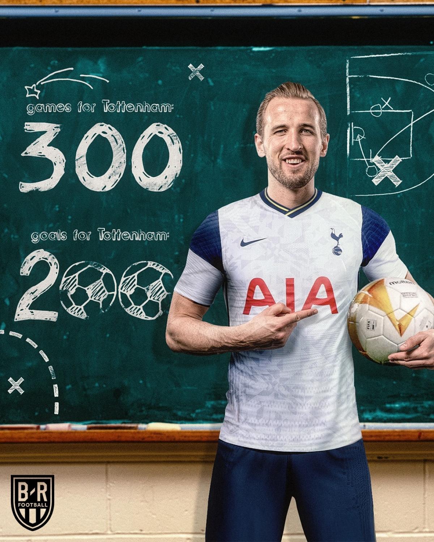 Harry Kane ghi bàn thắng thứ 200 trong lần ra sân thứ 300 cho Tottenham. (Ảnh: Bleacher Reports)