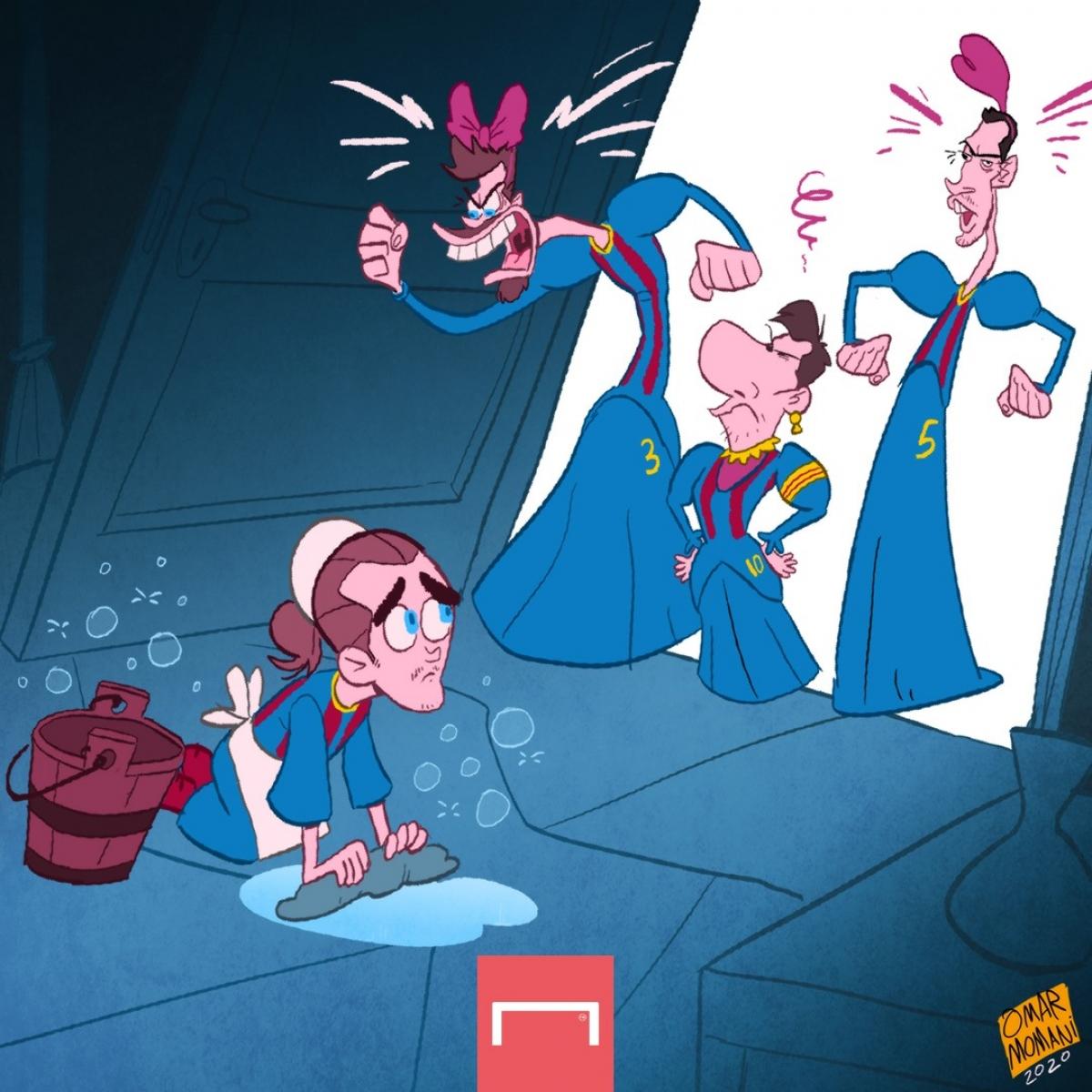 "Antoine Griezmann bị ""bắt nạt"" ở Barca. (Ảnh: Omar Momani)"