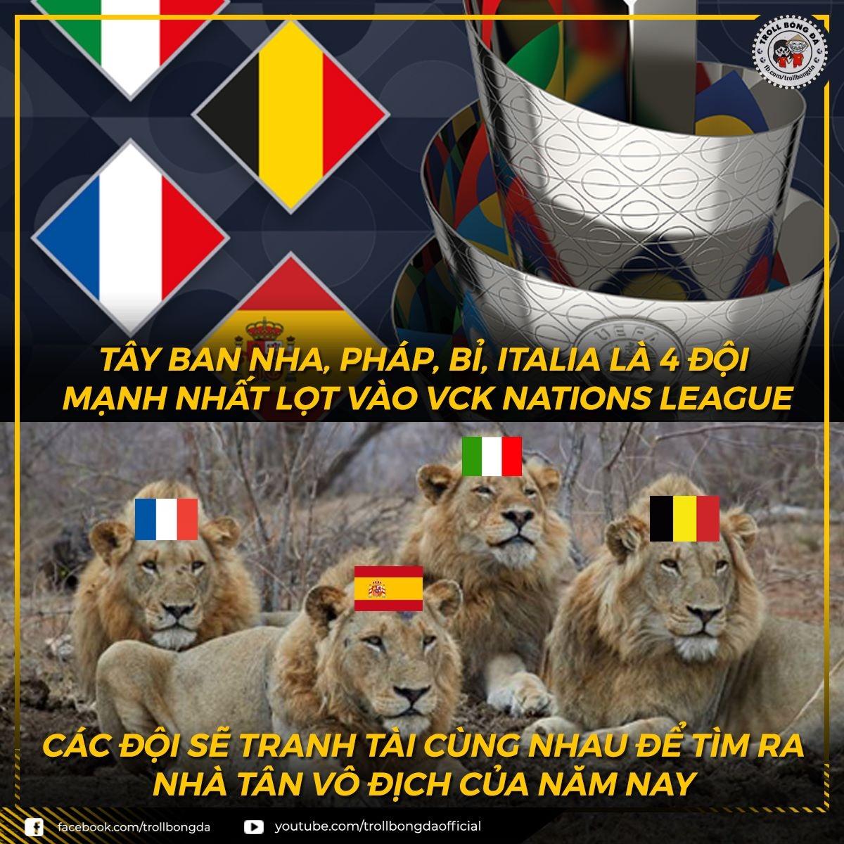 Đại chiến ở VCK UEFA Nations League mùa này. (Ảnh: Troll Bóng Đá)