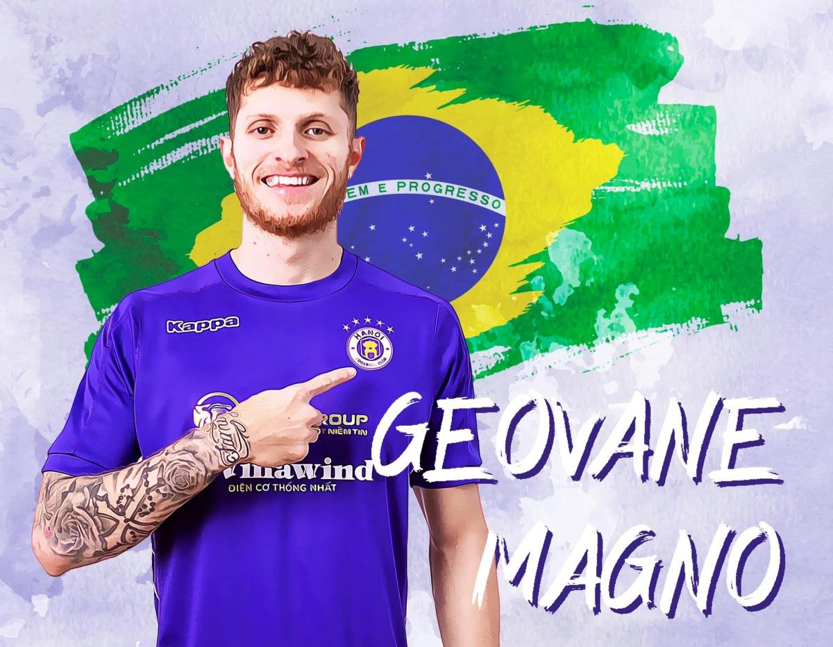 Geovane chính thức là cầu thủ của Hà Nội FC. (Ảnh: Hà Nội FC).