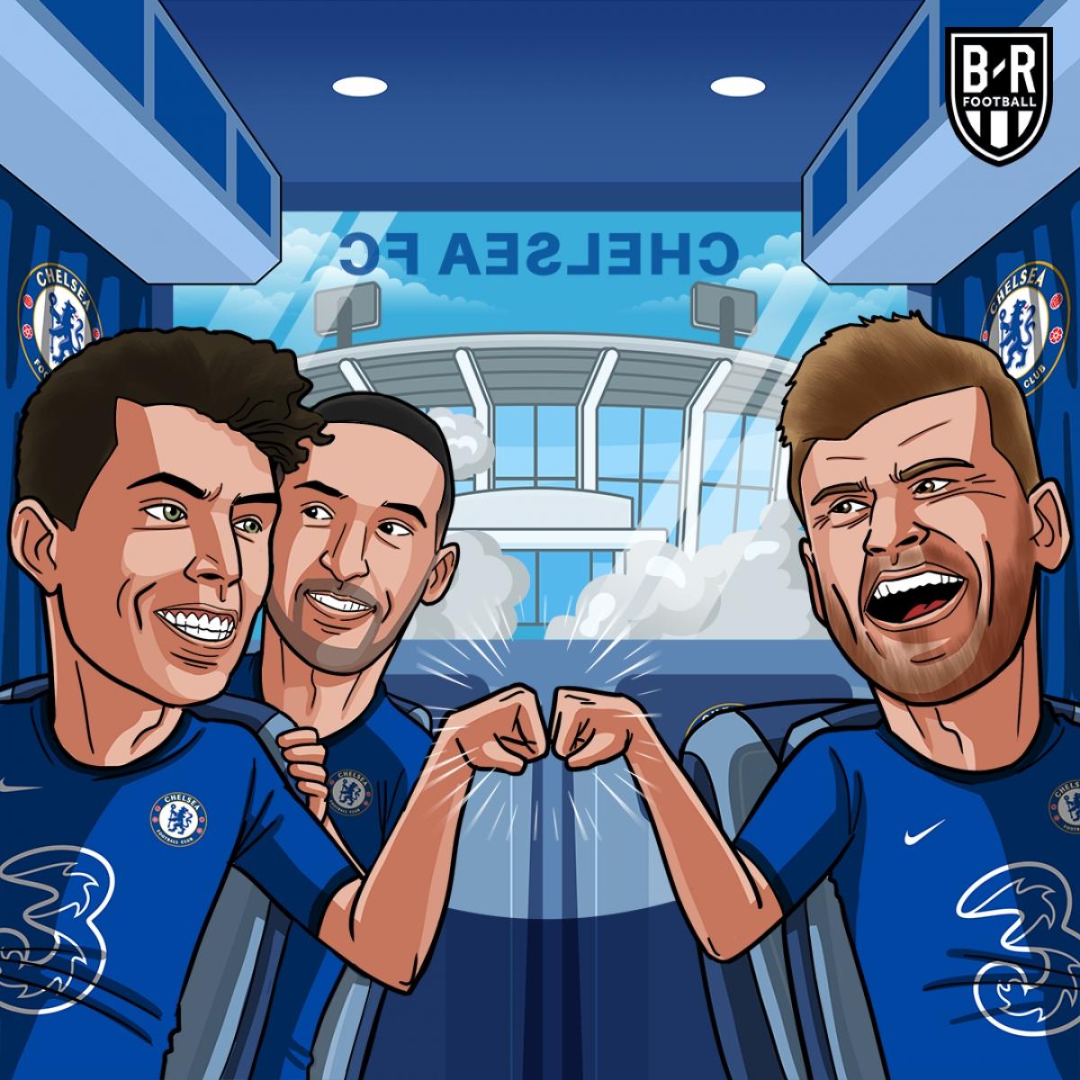 """Chelsea """"nhuộm xanh"""" trời Âu. (Ảnh: Bleacher Reports)"""