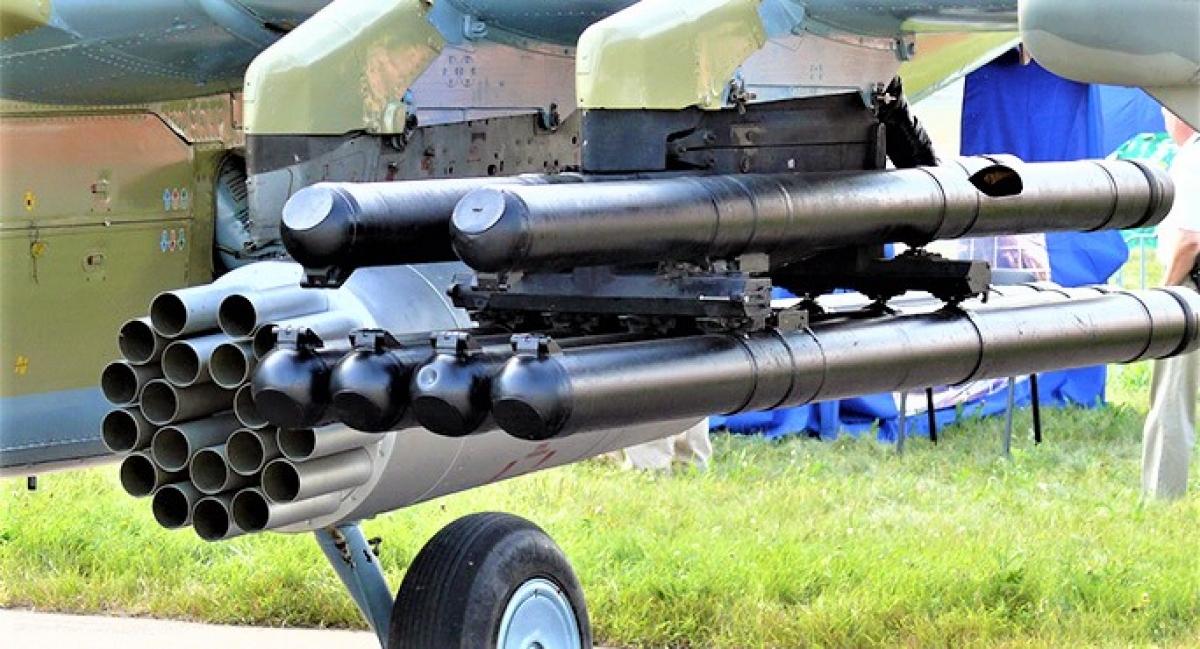 Tên lửa Vikhr được tích hợp cho trực thăng chiến đấu. Nguồn: wikipedia.org