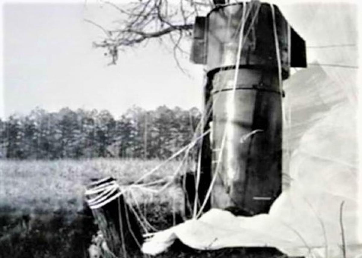 Một trong hai quả bom hạt nhân M-39 không bị thất lạc ở ở Bắc Carolina; Nguồn: interestingengineering.com
