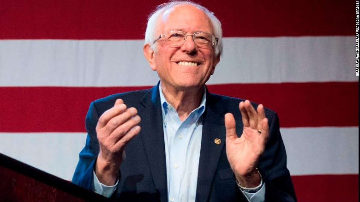 Thượng nghị sĩ Bernie Sanders. Ảnh: CNN