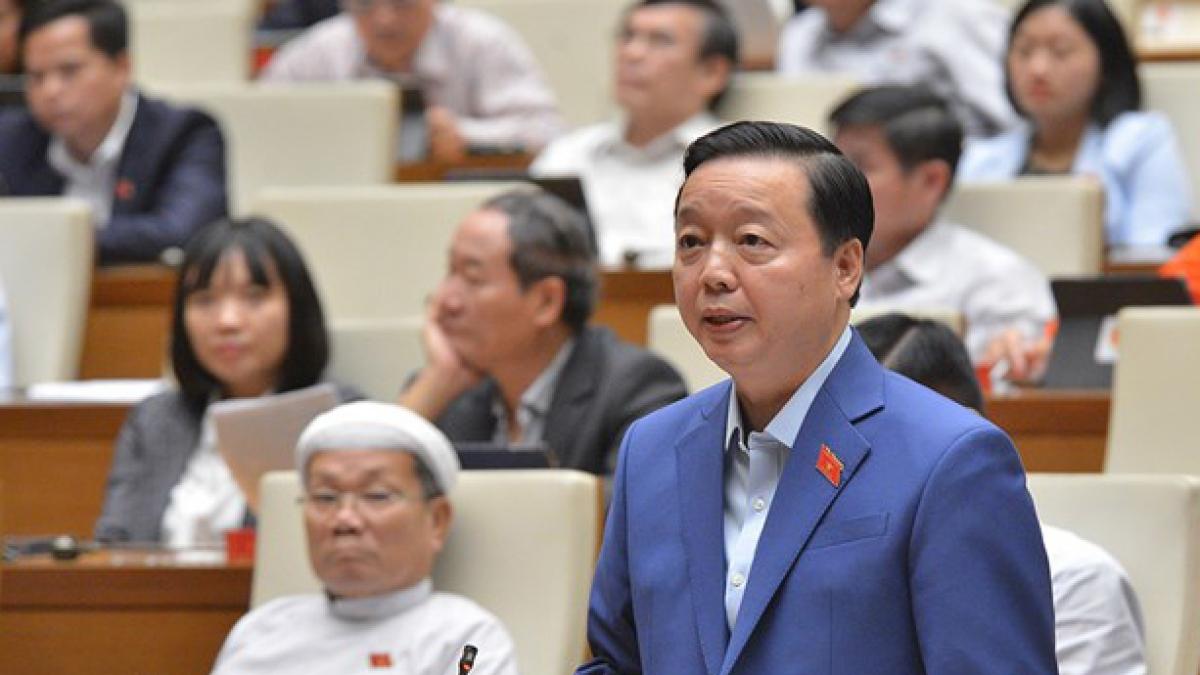 Bộ trưởng Bộ Tài nguyên và Môi trường Trần Hồng Hà.