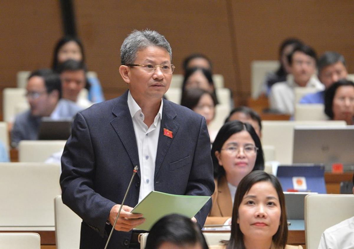 Đại biểu Đỗ Văn Sinh - Đoàn ĐBQH tỉnh Quảng Trị, phát biểu tại phiên thảo luận. Ảnh: Quốc hội