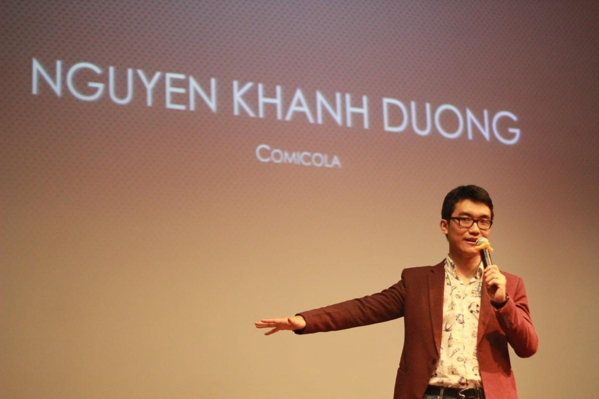 """Biên tập viên Nguyễn Khánh Dương (Comicola), nhà sản xuất """"Việt Sử Diễn Họa""""."""