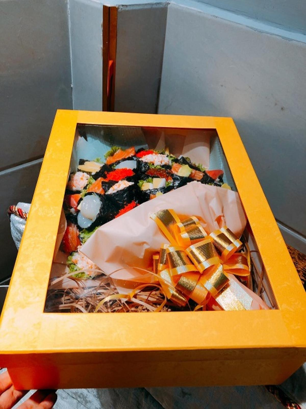 Bó hoa sushi độc lạ có giá 1,4 triệu đồng.
