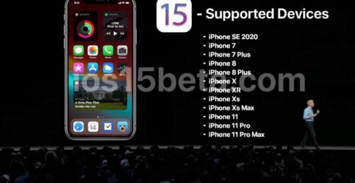 Các mẫu iPhone dự kiến được cập nhật lên iOS 15