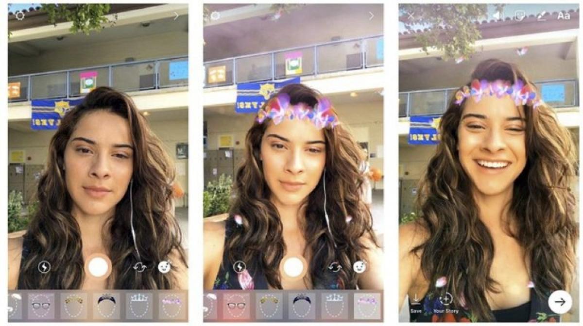 Những hiệu ứng tích hợp trong filter cho phép người dùng tha hồ biến tấu với diện mạo của mình -(Ảnh chụp màn hình)
