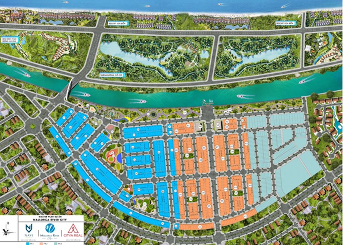 Phối cảnh quy hoạch chung dự án Mallorca River City