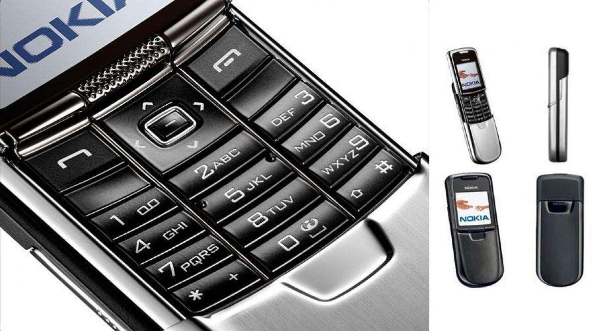Dòng Nokia 8000 series đi kèm nhiều kiểu dáng thiết kế cao cấp