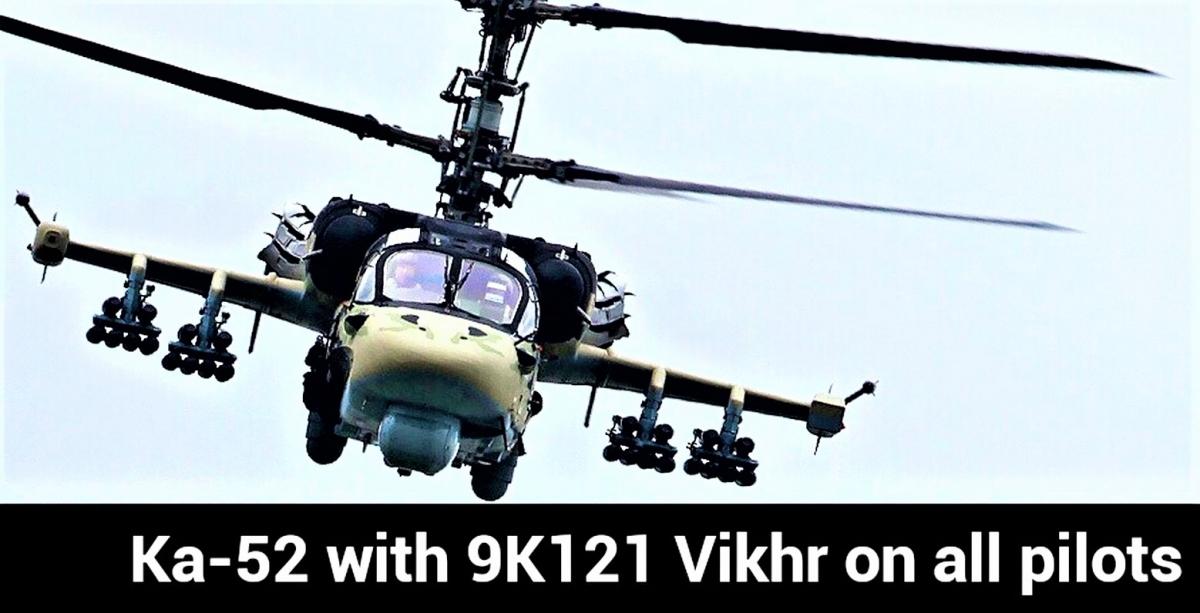 Tên lửa Vikhr được trang bị cho trực thăng chống tăng Ka-52. Nguồn: img.ifcdn.com